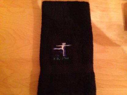 BLACK EK GYM TOWEL
